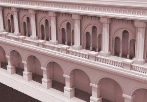 Backdrop 3D Facade Visual